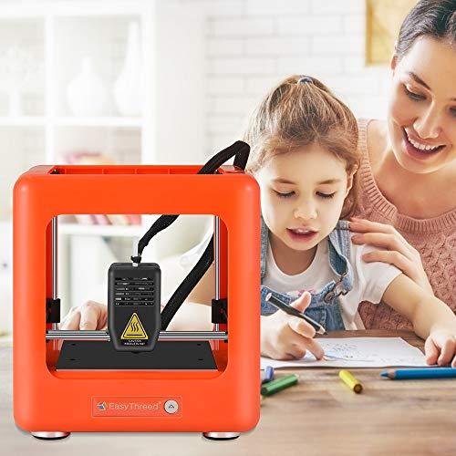SEAAN Mini Imprimante 3D Portable Entièrement Assemble Mini 3D Printer Imprimante 3D FDM Imprimante Entièrement Assemblée Impression À Une Touche Mini Imprimante Bricolage Cadeau