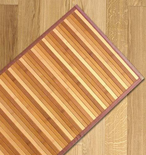 Confezioni Giuliana Tappeto Bamboo sfumato passatoia Cucina e Multiuso Beige Naturale (55x280)