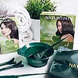 Naturtint Kit de Coloración en Casa 5 Accesorios - Brocha + Capa + Peine + Pinzas + Bol | Kit Tinte Pelo | Sin Elementos Metálicos | Kit Tinte Cabello | Resultados de Peluquería desde Casa