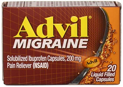 Advil Migraine Liquid Filled Capsules 20ct 200mg Advanced Medicine For Pain (Pack of 2)