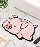 Pink Pig Design Cute Bathroom mat,Showroom Bathmat,Non-Slip Bath Rugs,Play Carpet Area Rug for Kids,Photography Props,Home Decor,Indoor mat (Sleeping Pig)