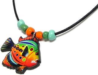 Mia Jewel Shop Fish Tropical Sea Animal Pendant Beaded Necklace