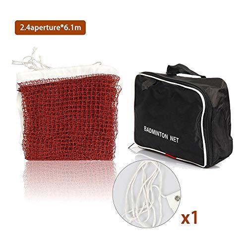 Brillie Mobiles tragbares Wettkampf-Badminton-Netz Tennis-Badminton-Netz Nylon gewebtes Volleyball-Netz für den Garten im Innenbereich