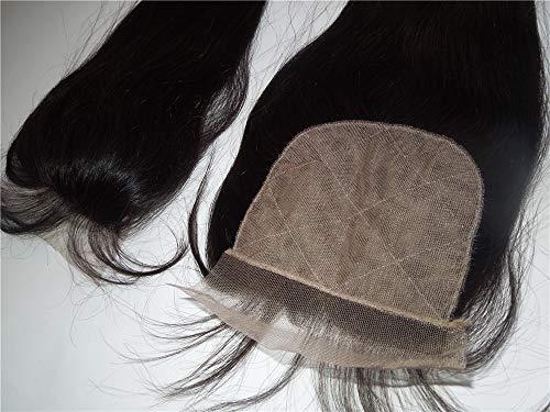 HairPR Silk Base Closure 18' Brazilian Hair 100% Remy Human Hair Straight Natural Color