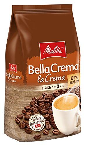 Melitta Ganze Kaffeebohnen, 100{69190b5496d19aa8b9ea1f6c7bdbbfb9383f93f105b308d8c35db946705c1bac} Arabica, vollmundig und ausgewogen, Stärke 3, BellaCrema LaCrema, 1kg