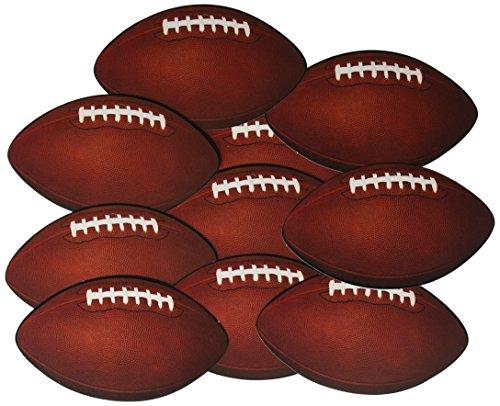 Beistle Mini Football Decorating Cutouts, Brown/White/Black