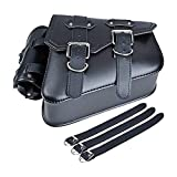 Right Side Motorcycle Solo Saddle Bag and Pannier Storage Compatible with Harley Sportster XL883 XL1200 (3 quick-release included)