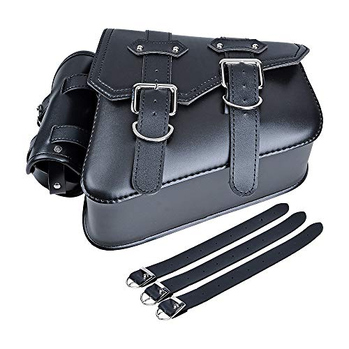 Right Side Motorcycle Solo Saddle Bag and Pannier Storage Compatible with Harley Sportster XL883 XL1200