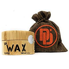 DA Dude Da Wax Strong Hold Hair Wax - Bästa hårvax Matte - Hairwax Män i en unik träbadkar och presentpåse 100 ml