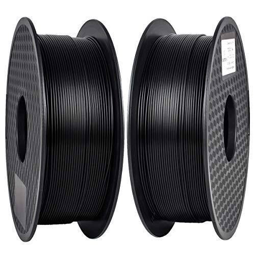 PLA Filament 1.75mm, GIANTARM Classic PLA 3D Printer Filament 2kg Spool (Black)