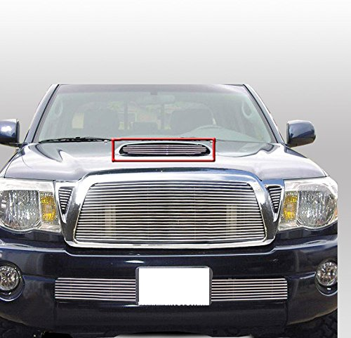 ZMAUTOPARTS Hood Scoop Billet Grille Grill Insert Compatible With 2005-2011 Tacoma Pickup Truck
