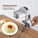 Noodle Maker, FantasyDay Heavy Duty Stainless Steel Manual Pasta Maker Machine Kitchen Tool - Professional Fresh Pasta Machine Lasagne Spaghetti Tagliatelle Ravioli Maker