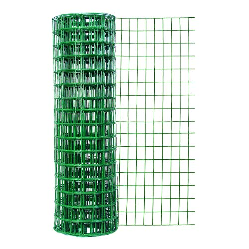 Origin Point 22450 24 Inches x 50 Feet 16-Gauge Green Vinyl Coated Garden Fence with 3 x 2-Inch Openings, 24' x 50'