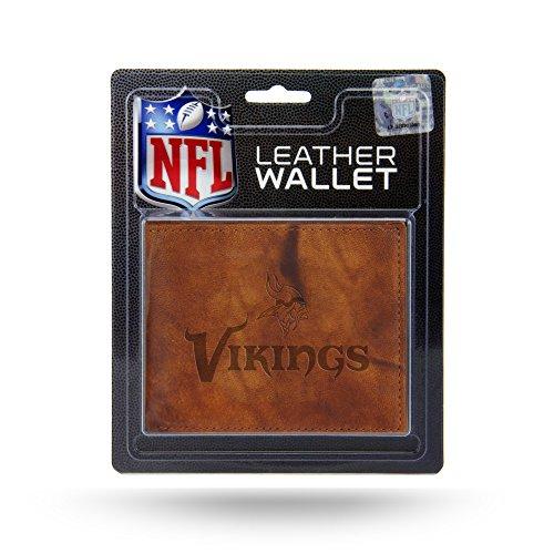 Rico Industries Embossed Leather Billfold Wallet NFL Minnesota Vikings Geldbörse aus geprägtem Leder, Teamfarbe, Einheitsgröße