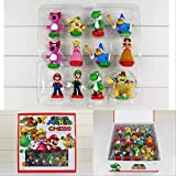 Ltong Super Mario Bros Ajedrez PVC Figuras De Acción Juguetes 3.5-7Cm Regalos De Juguete para Niños con Caja De Color