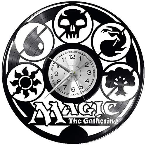 WoD Magie - Reloj de Pared de Vinilo, diseño Retro