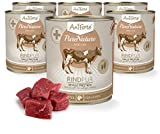AniForte® PureNature EasyBarf Hundefutter- Naturprodukt für Hunde (Rind Pur, 6x800g)