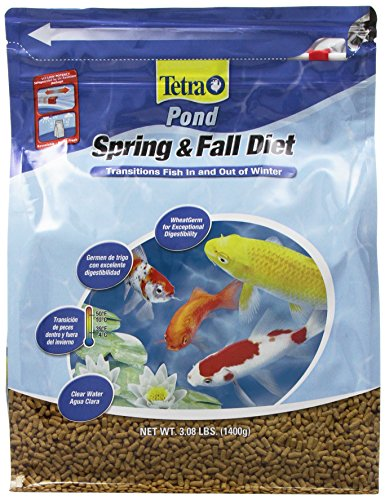 TetraPond Spring And Fall Diet 3.08 Pounds, Pond Fish Food, For Goldfish And Koi (16469), 3 lb, 7 L