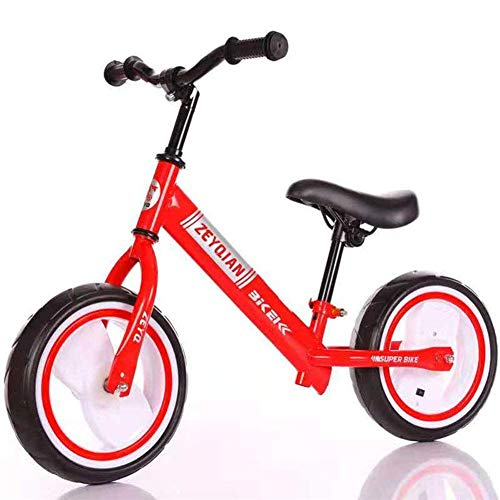 TONG Baby Sport Gleichgewicht Fahrrad-Fahrt auf Spielzeug Baby Walker Push-Bike Erstes Geschenks Adjustable Seat Blitz-Rad, for Kinder ab 18 Monate, Weiß, C ZHANGKANG (Color : Red, Size : C)
