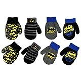 DC Comics Boys 4 Pack Mitten Set: Batman, Superman, Justice League (Age 2-4), Batman Design - 4 Pair Mittens Set