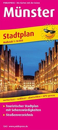 Münster: Touristischer Stadtplan mit Sehenswürdigkeiten und Straßenverzeichnis. 1:16000 (Stadtplan: SP)