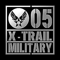 ミリタリー X-TRAIL エクストレイル カッティング ステッカー シルバー 銀