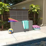 CoscoProducts 88180GCG1E Cosco Outdoor Patio, Extra Large, 180 Gallons, Gray Deck Storage Box