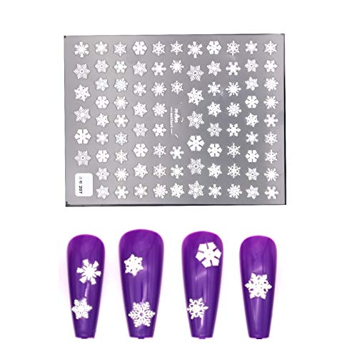 3D Snowflake Embossed Nail Sticker Decals Three-dimensional Realistic Christmas Nail Decoration Accessories