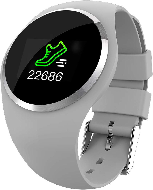 SODIAL blueeetooth Smart Watch -Pressscreen Sport Smart Wrist Watch Smartwatch Fitness Tracker Camera Pedometer for Samsung Android iPhone iOS Men Women Kid(Grey)