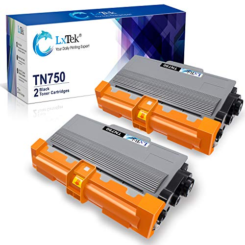 LxTek Compatible Toner Cartridge Replacement for Brother TN750 TN-750 TN720 TN-720 (2 Black High Yield) to use with DCP-8110DN HL-5470DW HL-5450DN HL-6180DW MFC-8510DN MFC-8710DW MFC-8910DW MFC-8950DW