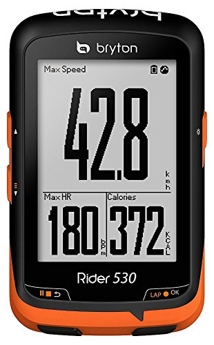 Bryton Rider 530E GPS Ciclismo, Negro/Naranja, Talla Única