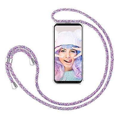 ZhinkArts Cadena para Teléfono Móvil Compatible con Samsung Galaxy S9 - Funda con Collar de Cordón para Smartphone - Carcasa con Correa para Celular para Llevar - Unicornio