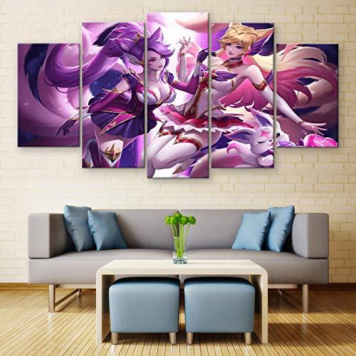 WARMBERL Peintures Sur Toile 5 pièces De Toile Imprimé Jeu Peinture Affiche Alliance Décoration De La Maison Mur Art Cadre Photo Cuadros Prints on Canvas Framed