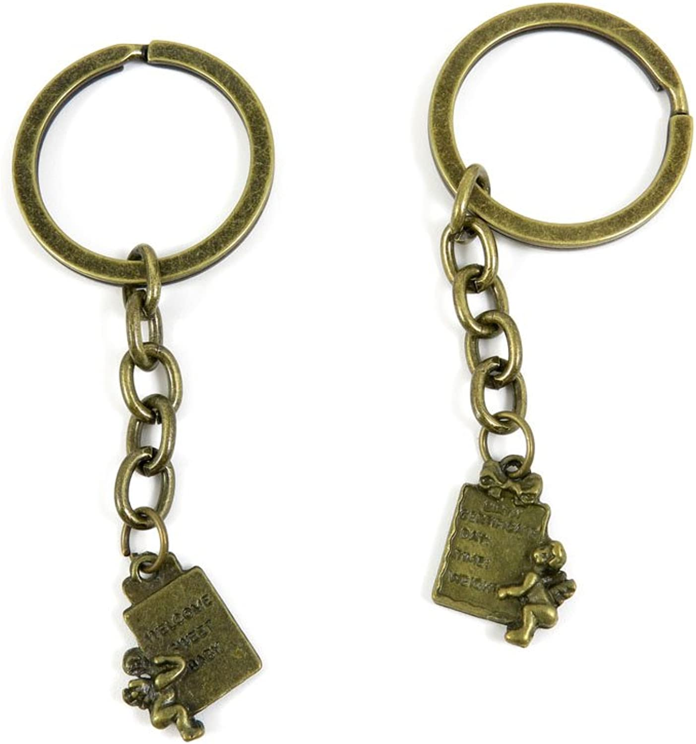 230 Pieces Fashion Jewelry Keyring Keychain Door Car Key Tag Ring Chain Supplier Supply Wholesale Bulk Lots T5QD1 Gift Cupid Angel