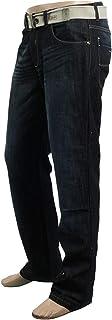 Mens Italian Enzo Ez14 Jean, Blue Wash , Belt Accessory - Blue - 32S