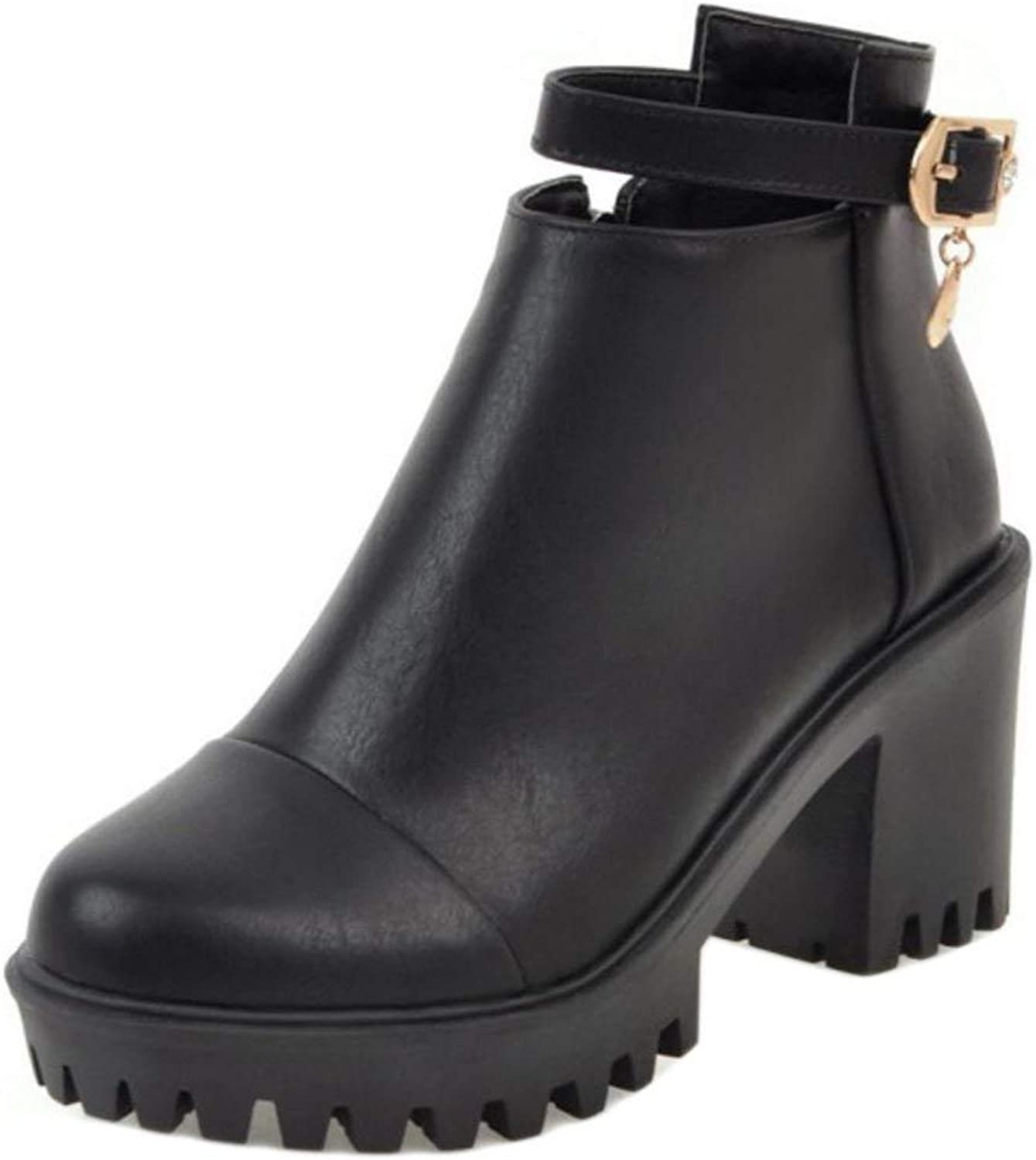 Unm Women's Fashion Boots with Zipper