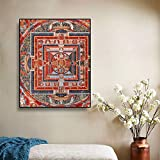 Decoración de la sala de estar del hotel, arte de la pared, lienzo, pintura, pósters e impresiones de estilo retro, decoración del marco del estilo del sudeste asiático, cuadros A71 70x100 cm