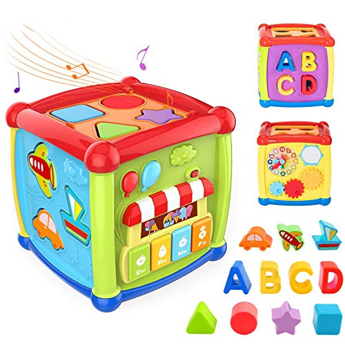 Lowest Price! SLDZ Multifunctional Music Toy Fun Music Box Cube Gear Clock Geometric Blocks Sorting ...