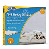 PawPride Self Heating Pet Pad Luxury Pet Blanket with Self Heated Thermal Technology for Cat and Dog Bed Pet Perfect Warm Winter Mat Blanket 64 x 45 cm