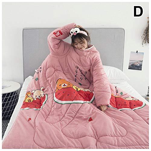 yangGradel Colcha perezosa con mangas cálida gruesa manta multifunción para el hogar invierno siesta