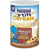 NESTLÉ Bébé - P'tite Céréale - Chocolat Biscuité - Céréales déshydratées - Dès 12 mois - Boîte de 400g