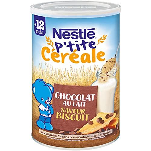 NESTLÉ Bébé - P tite Céréale - Chocolat Biscuité - Céréales déshydratées - Dès 12 mois - Boîte de 400g