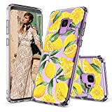 MOSNOVO Galaxy S9 Case, Lemon Fruit Pattern Clear Design Printed Transparent Plastic Back Hard Case with TPU Bumper Protective Case Cover for Samsung Galaxy S9 (2018)
