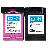 SSBY 664 664xl para El Cartucho De Tinta Compatible con para HP, Se Adapta a La Impresora De DeskJet Tinta 2135 1115 2675 3635 3775 Impresora (1 Negro + 1 Color)