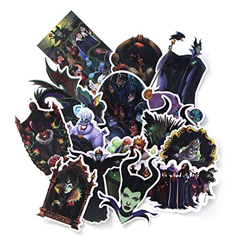 RUIRUI Evil Witch Sticker Pastel Cartoon Character Anime Movie Funny Decal Scrapbook Diy Mobile Phone Laptop Decoration 17Pcs
