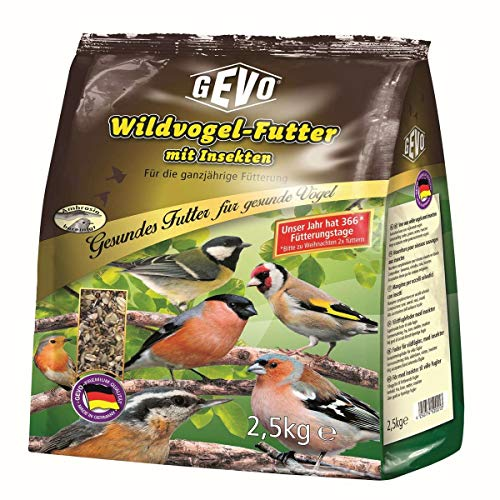 Gevo® Wildvogelfutter mit Insekten und Chiasamen | ganzjährig | 2,5kg-Pack