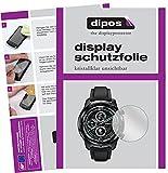 dipos I 6X Schutzfolie klar kompatibel mit TicWatch Pro 3 GPS Folie Bildschirmschutzfolie