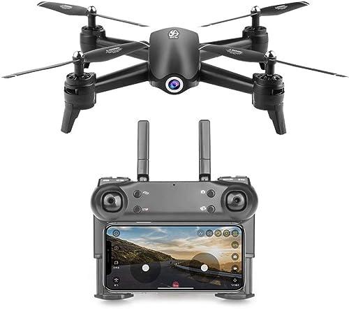KOQIO Fernsteuerungs-Drohne, 2,4 GHz 1080P WiFi FPV Weißwinkel-Dual-Kamera-Lichtstrom-LED-Lichtgeste, die Foto-Headless-Modus 3D-Flip Quadcopter
