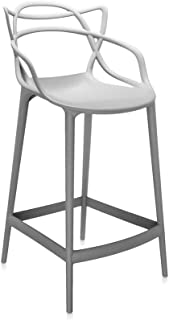Kartell Masters Grey Stool H.25.6 inch