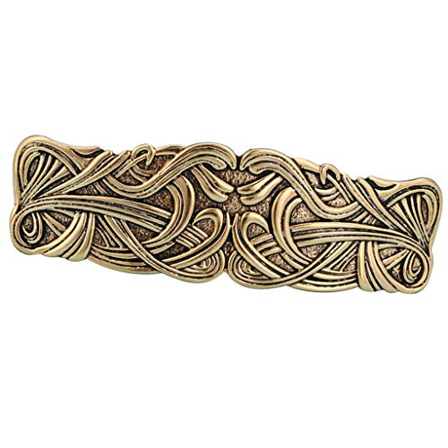 Colaxi Vintage Celtic Knot Barrette North Vikings Hair Clip Headdress Hair Jewelry for - Golden, as described